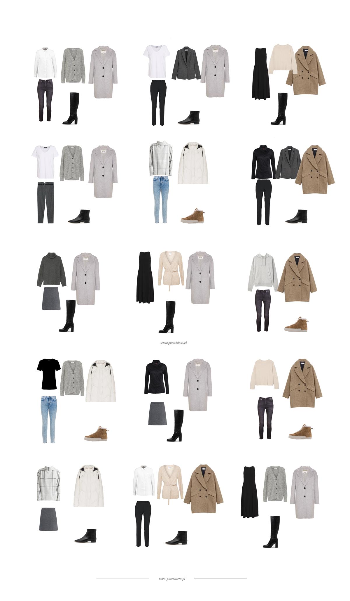 Garderoba kapsułowa na zimę