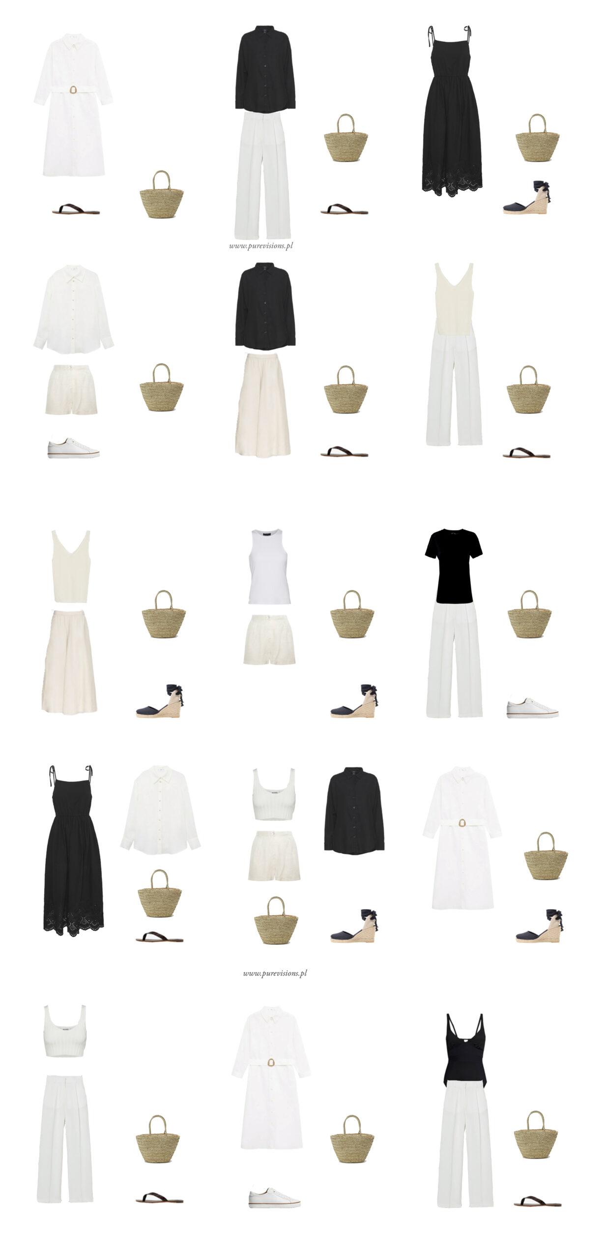 walizka minimalistki szafa kapsułowa przykłady blog